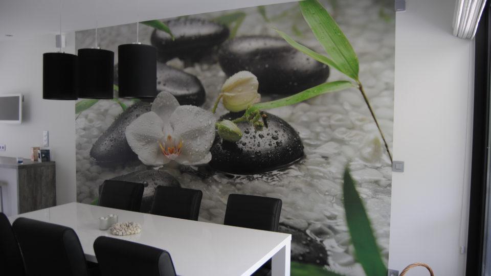 fotobehang in woonkamer door Bicopa bvba