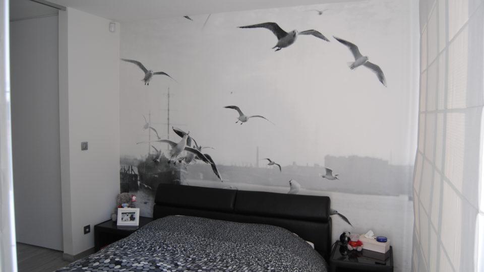 fotobehang in slaapkamer door Bicopa bvba